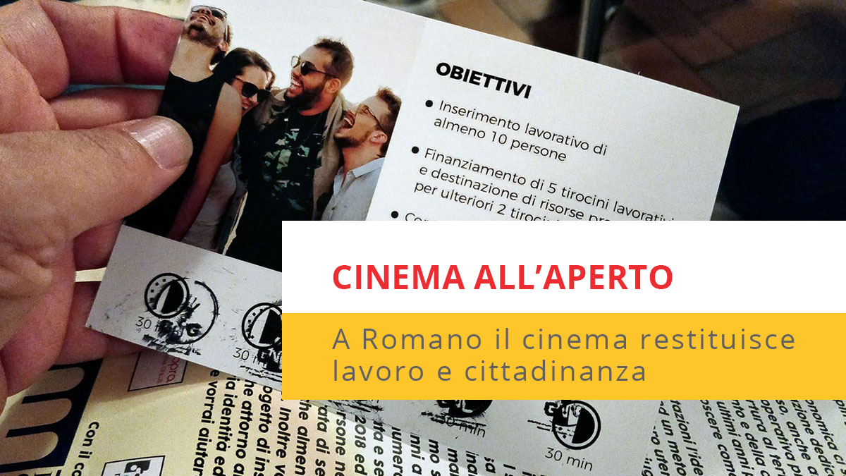 locandina post cinema all'aperto
