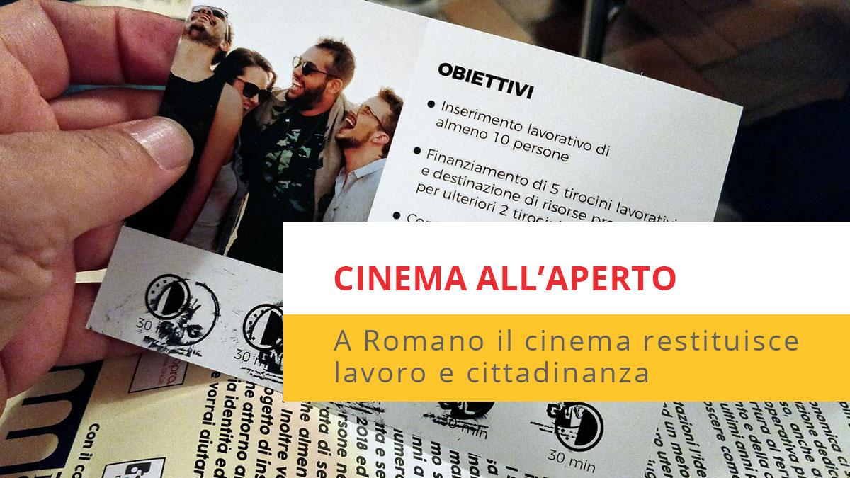 locandina post cinema all'aperto